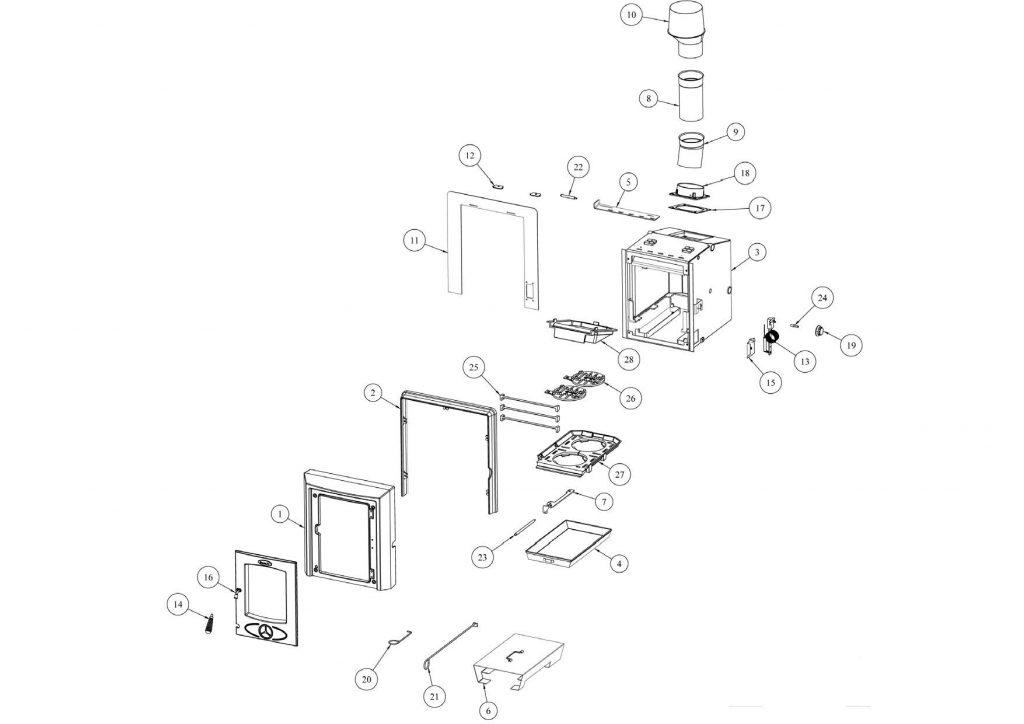 Cara+ Boiler Parts Exploded View